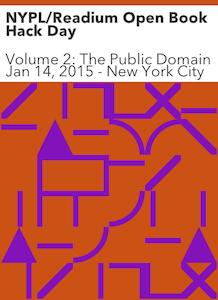 Un hackathon à la NYPL sur le domaine public #brève
