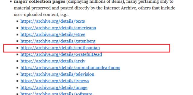 La bibliothèque Smithsonian identifiée comme un contenu à caractère terroriste