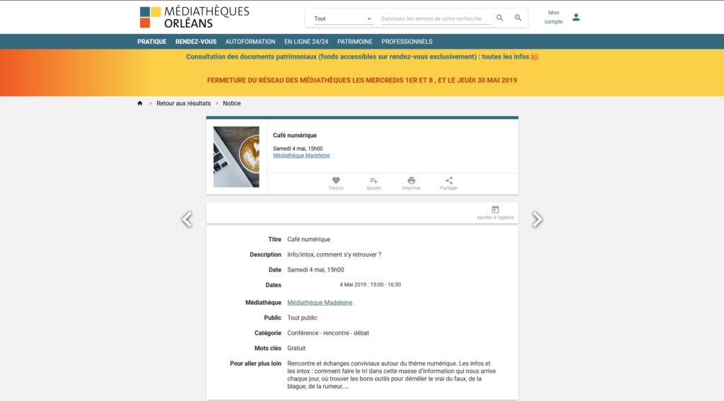 Les médiathèques d'Orléans organisent des cafés numériques